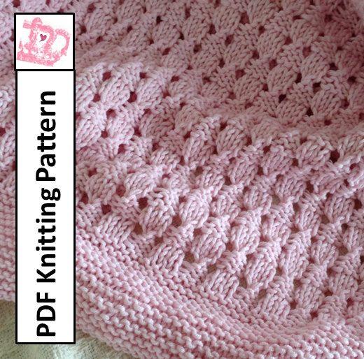 Baby Blanket Knitting Pattern, PDF Knitting Pattern - Basketweave ...