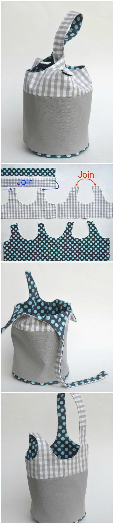 Bucket tote - free pattern | bolsos carteras cinturones | Pinterest ...