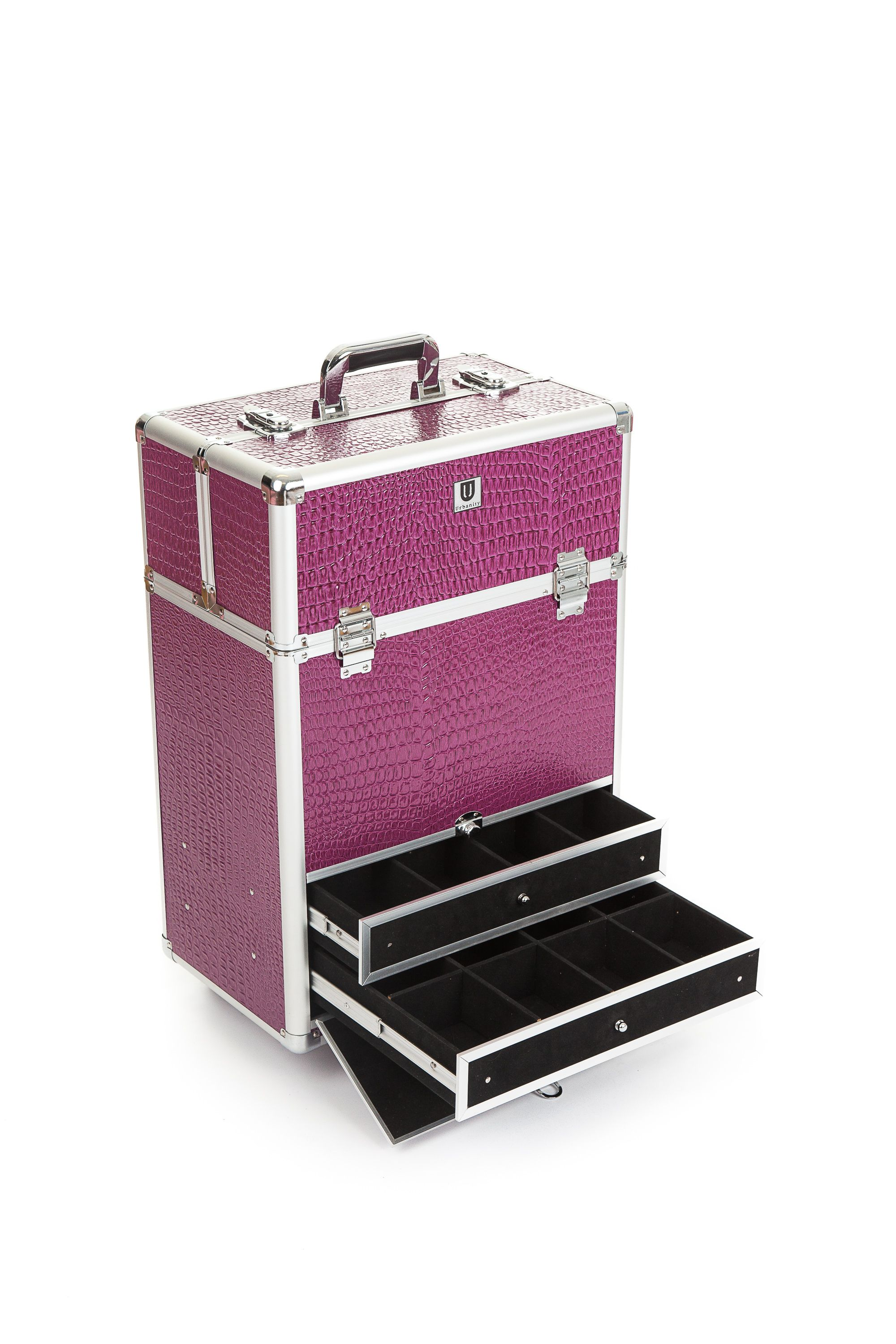 Urbanity Purple Croc Nail Pro Trolley with slide out