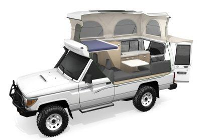 Toyota Landcruiser Pop Top Camper Expedition 4wd Overland