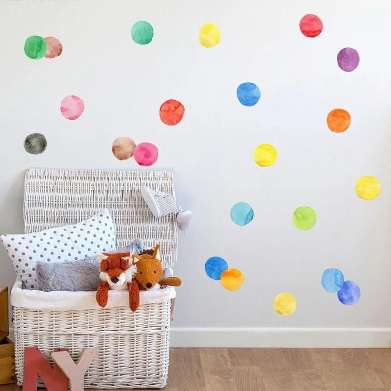 Watercolor Polka Dots Kids Wall Decor Nursery Wall Decals