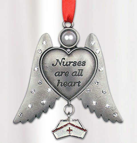 Nurse Hanging Ornament Angel with Hat Charm Pewter Metal 3 Inch Banberry Designs http://www.amazon.com/dp/B00M0ZNB3G/ref=cm_sw_r_pi_dp_oBs0tb04BDQJH1C1