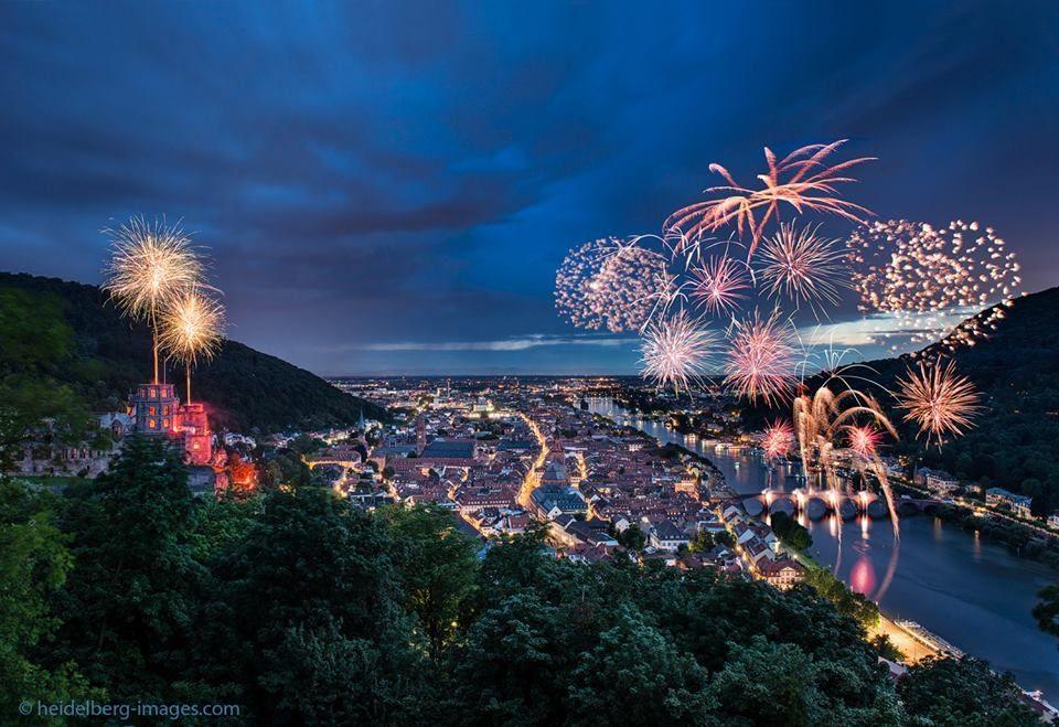 Fireworks over Heidelberg, Germany 2015   Heidelberg ...