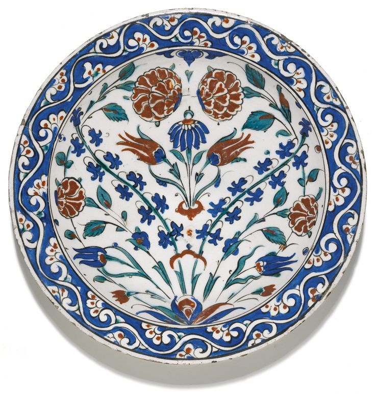 A LARGE IZNIK POLYCHROME POTTERY DISH TURKEY CIRCA 1580 of shallow rounded for A LARGE IZNIK POLYCHROME POTTERY DISH TURKEY CIRCA 1580 of shallow rounded for