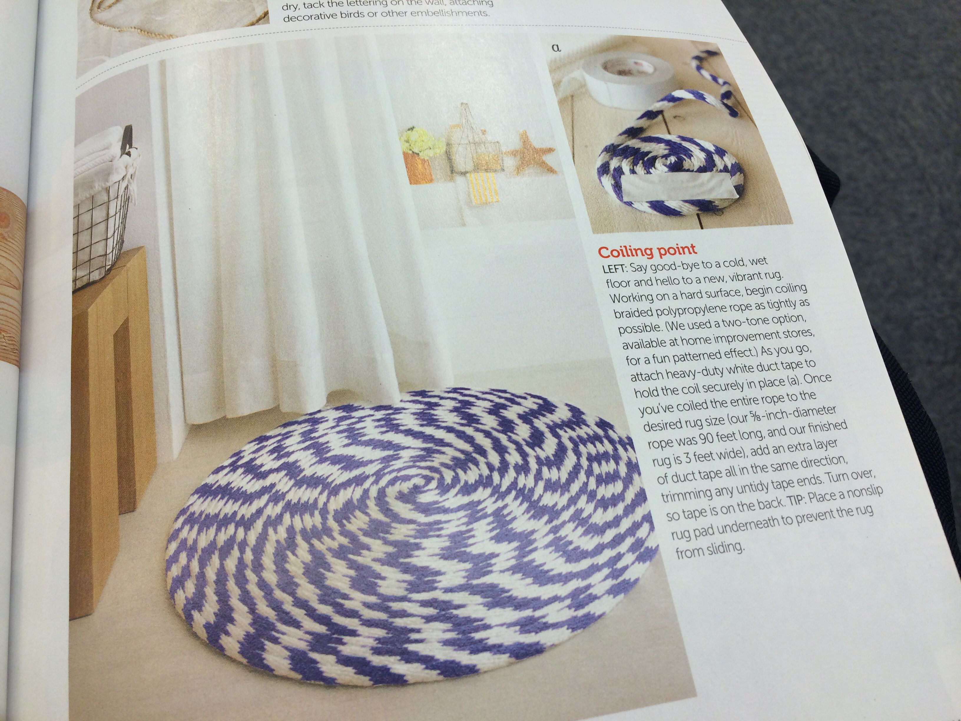 Nautical Rug From Industrial Cord Better Homes Gardens