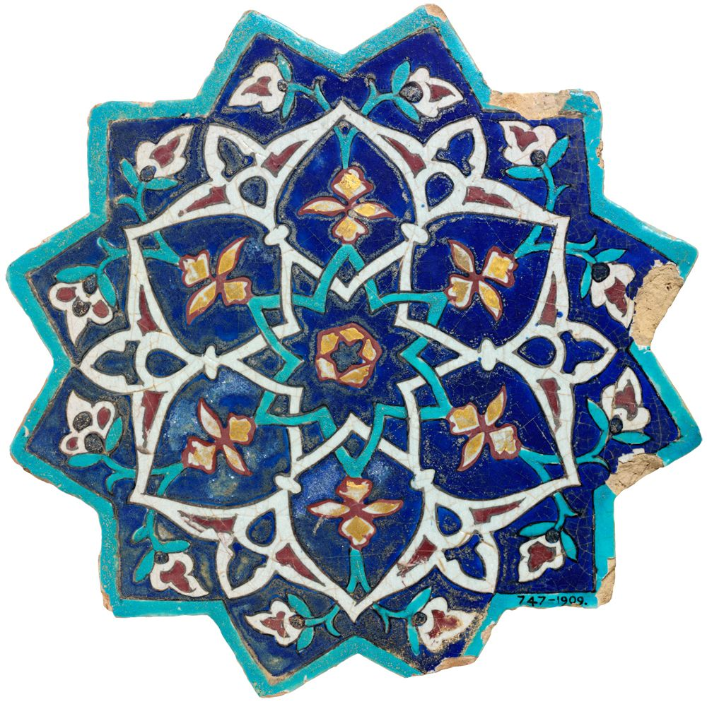 Star-shaped tile, Iran, about 1444. Museum no. C.747-1909 | Islamic ...