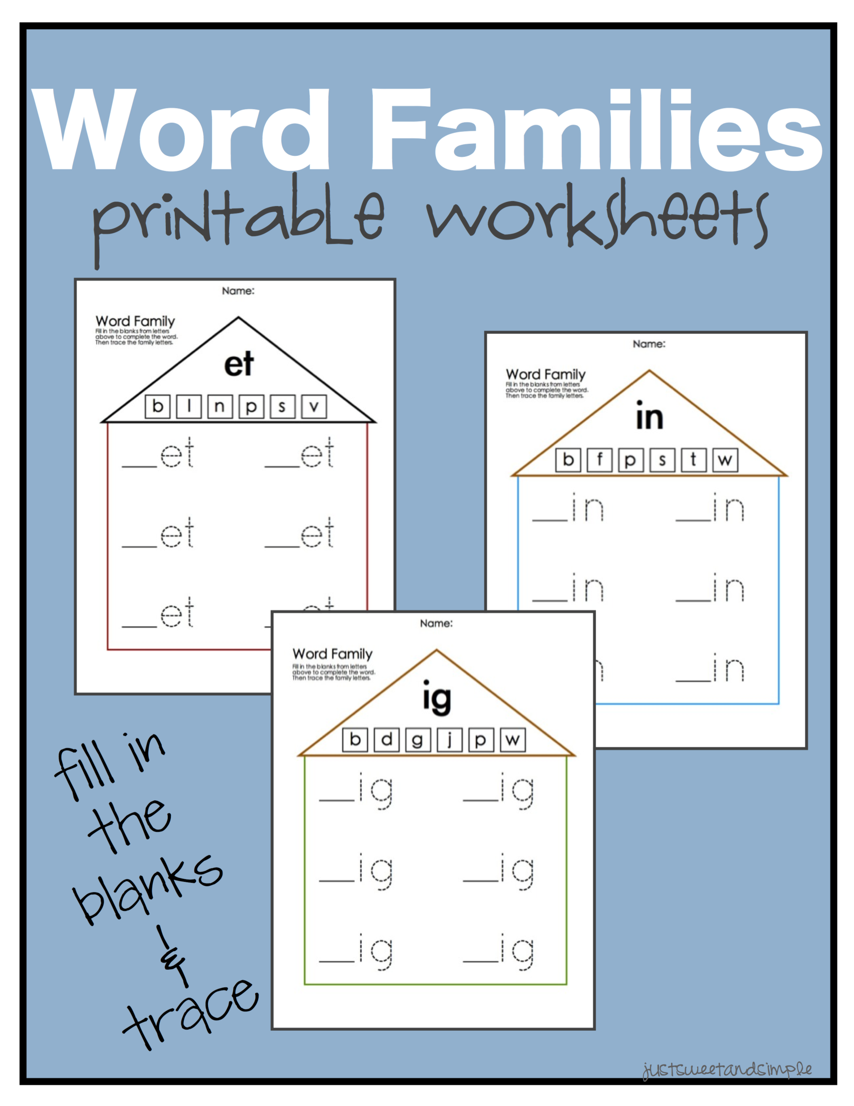 Word Families Pdf Word Family Worksheets Kindergarten Word Families Kindergarten Word Families Worksheets [ 2200 x 1700 Pixel ]