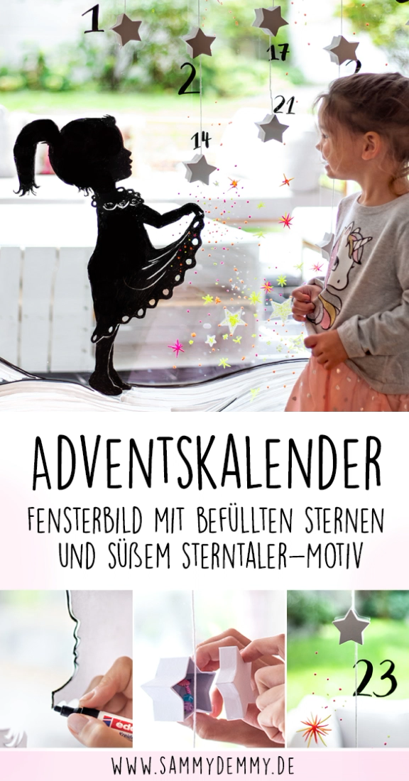 Adventskalender Fensterbild #adventskranzideenkinder