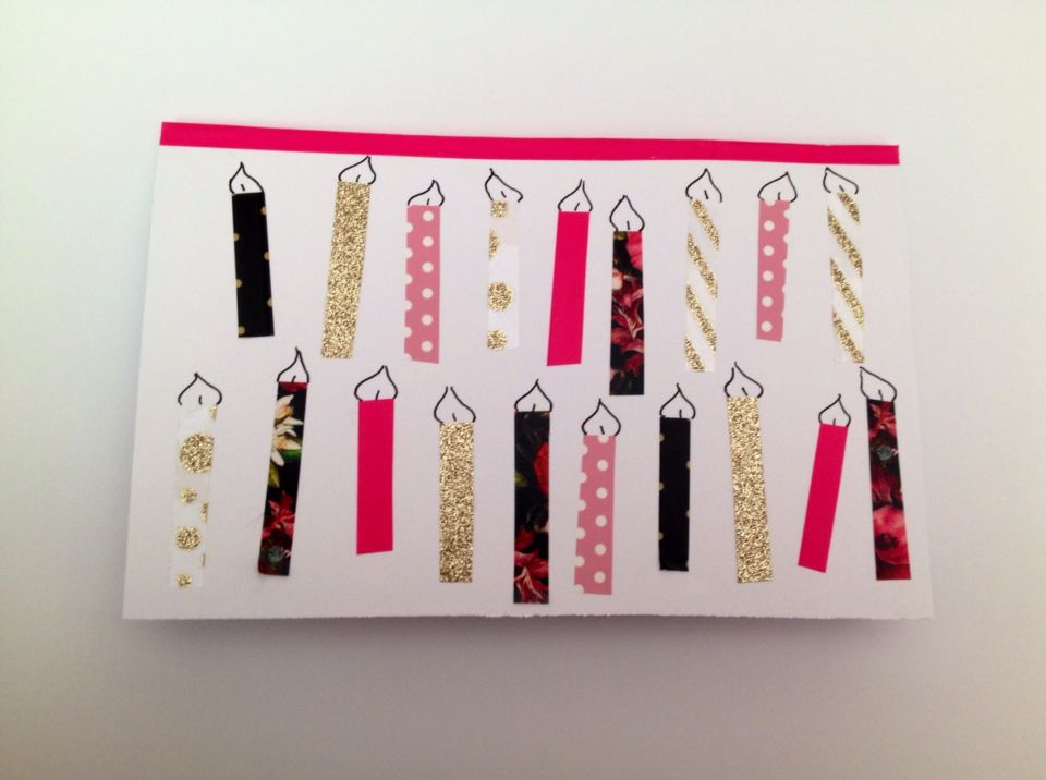 19th Birthday Card For A Friend Made With Washi Tape Birthday
