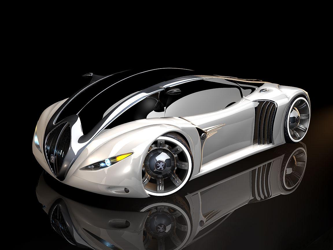 peugeot 4002 as white lion version (2003) | car | futuristic cars