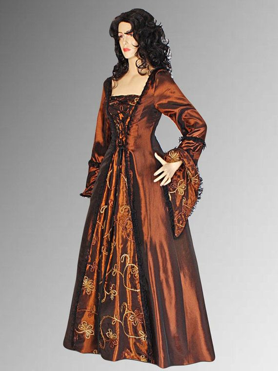Renaissance Gothic style Dress Medieval Gown by YourDressmaker