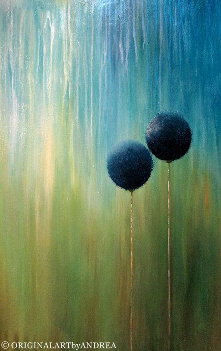 HOLIDAY SALE 20 % RABATT auf Leinwand Kunst Acryl Malerei abstrakte florale große strukturierte Gegenwartskunst türkis blau grün Gold lila 40 x 28 x 1, 2