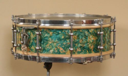 Rare 1928 Ludwig Ludwig Peacock Pearl Snare Drum W Stand Ebay Pearl Snare Drum Drums Snare Drum