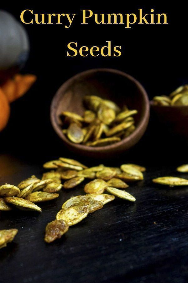 Curry Roasted Pumpkin Seed #pumpkinseedsrecipe This Curry Roasted Pumpkin Seed recipe is super easy, perfectly crispy to make and packed full of the most amazing curry flavor! Roasted in a mixture of coconut oil, curry powder and garam masala, the flavors are slightly sweet, savory and just absolutely incredible - you NEED these fresh pumpkin seeds in your life! These curry pumpkin seeds are packed full of flavor and also a great healthy snack. #wenthere8this #pumpkinseeds #roastedpumpkinseeds # #pumpkinseedsrecipe