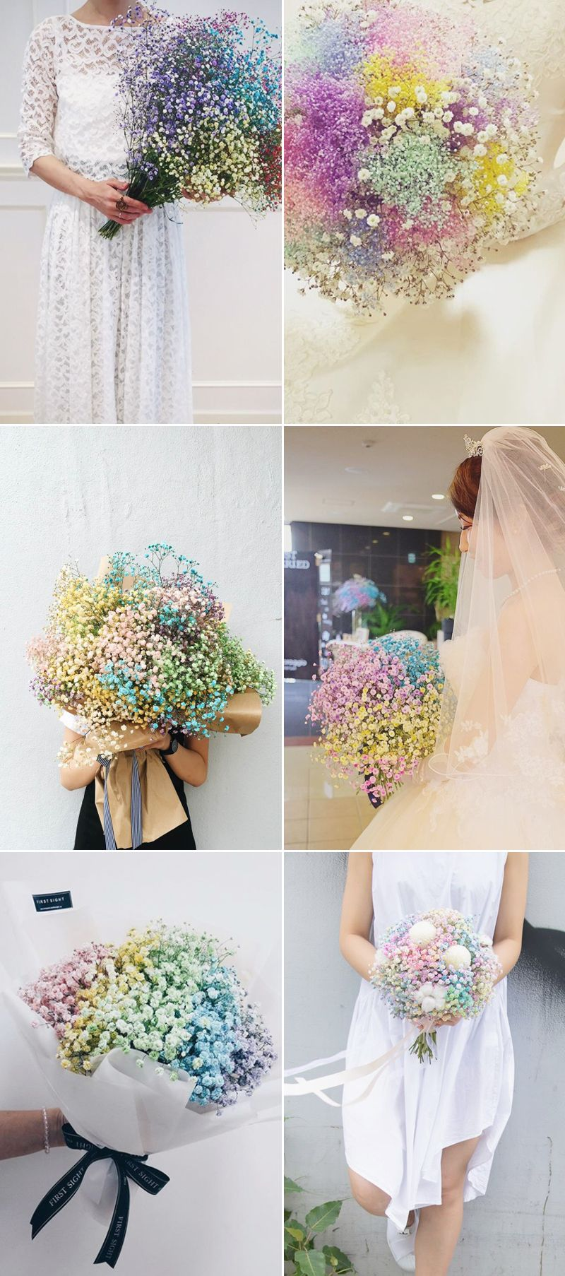 Pastel Rainbow Romance 23 Colorful Rainbow Bouquets We Love Rainbow Bouquet Rainbow Wedding Theme Pastel Wedding Theme