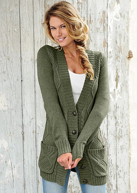 Love the length on this cardigan! Almost any color would work! Probably need medium.