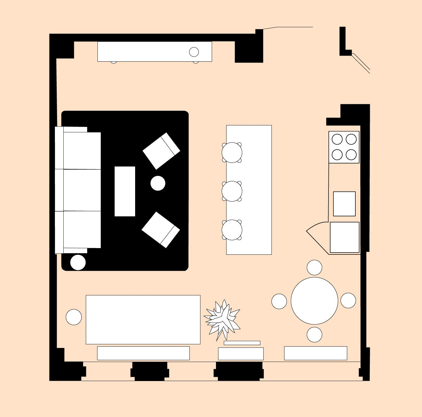 4 Living Room Layout For A Small Open Plan Space With Images