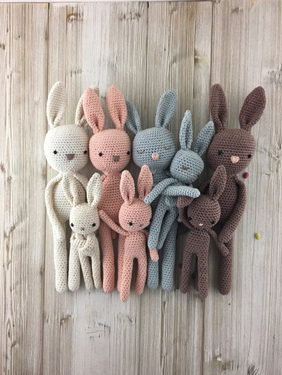 Bunny, MADE TO ORDER, crochet bunny Mama and baby, crochet toy, baby ...