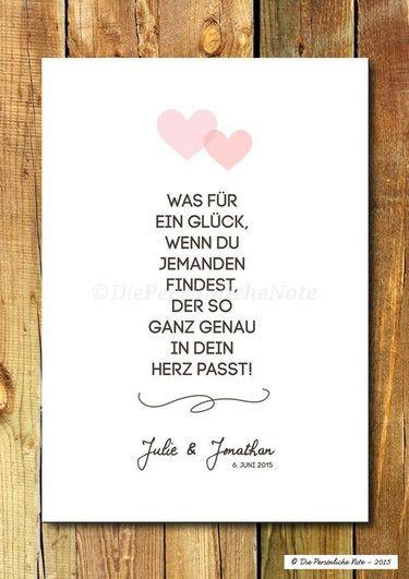 Druck Print Herzgenau Hochzeit Liebe Verlobung Schone Spruche