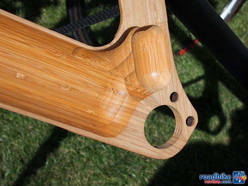 Renovo bamboo bicycle machining detail