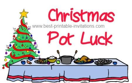 Christmas Potluck.Free Printable Christmas Potluck Invitations From Www Best