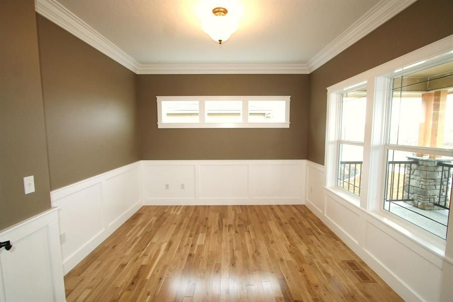 We Could Fake The Wainscoting With A Chair Rail And Tall Base, Paint Between
