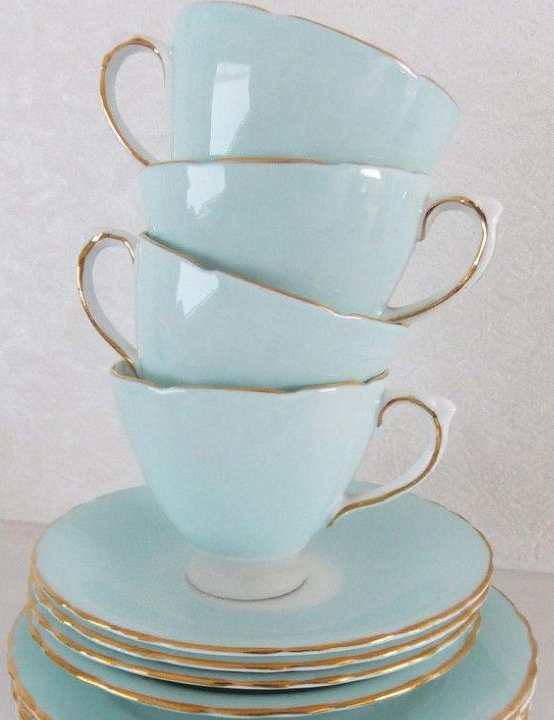 Duck Egg Blue With Images Bone China Tea Set China Tea Sets