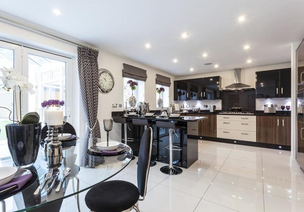 David Wilson Homes   The Oaks (Kidderminster) Interior Designed Kitchen/Breakfast  Room.