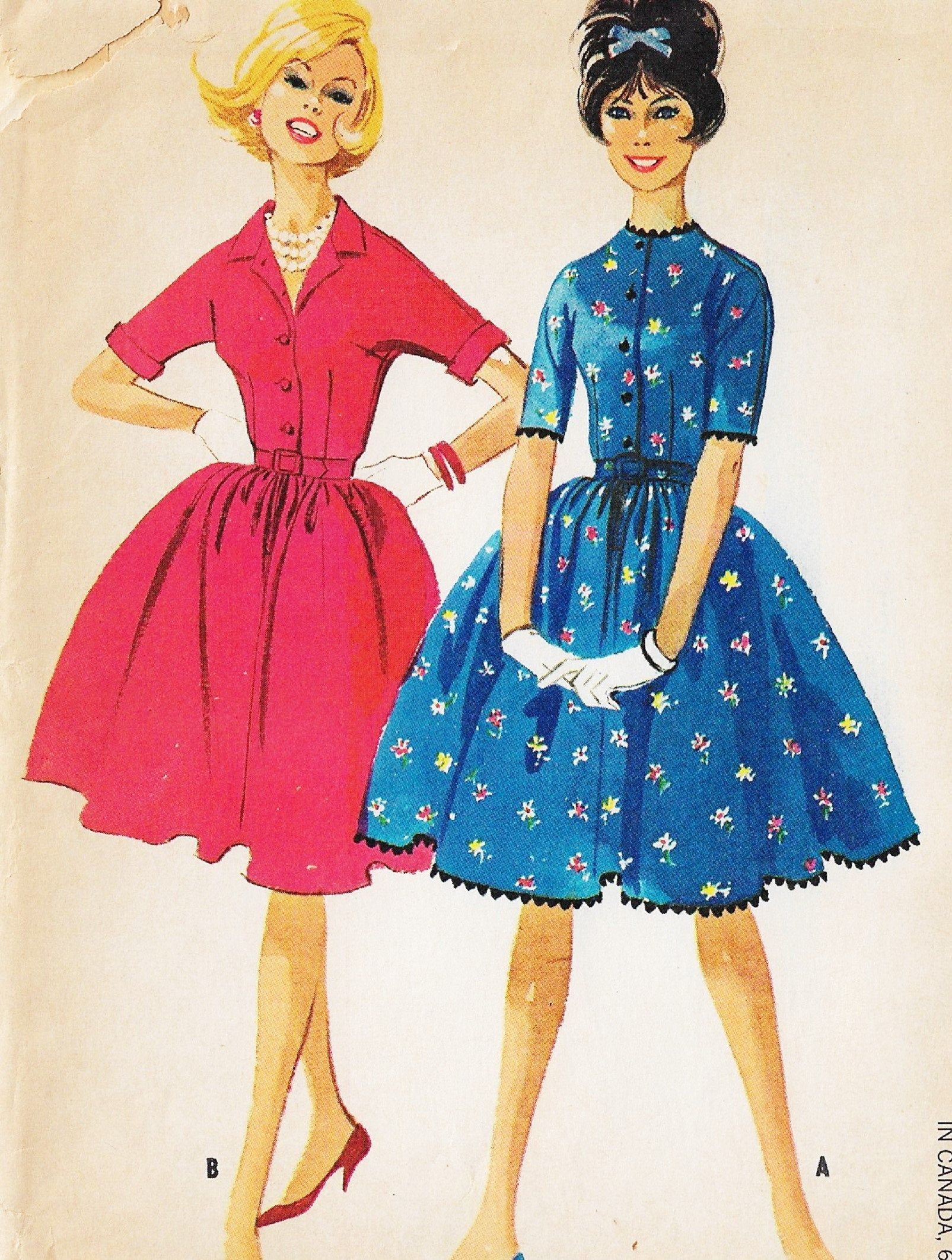 1960s Mccalls Sewing Pattern 5953 Womens Rockabilly Dress 2 Etsy In 2021 Mccalls Sewing Patterns Rockabilly Dress Sewing Patterns