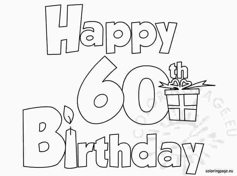 Coloring Pages 60th Birthday Birthday Coloring Pages Happy Birthday Coloring Pages Happy 60th Birthday