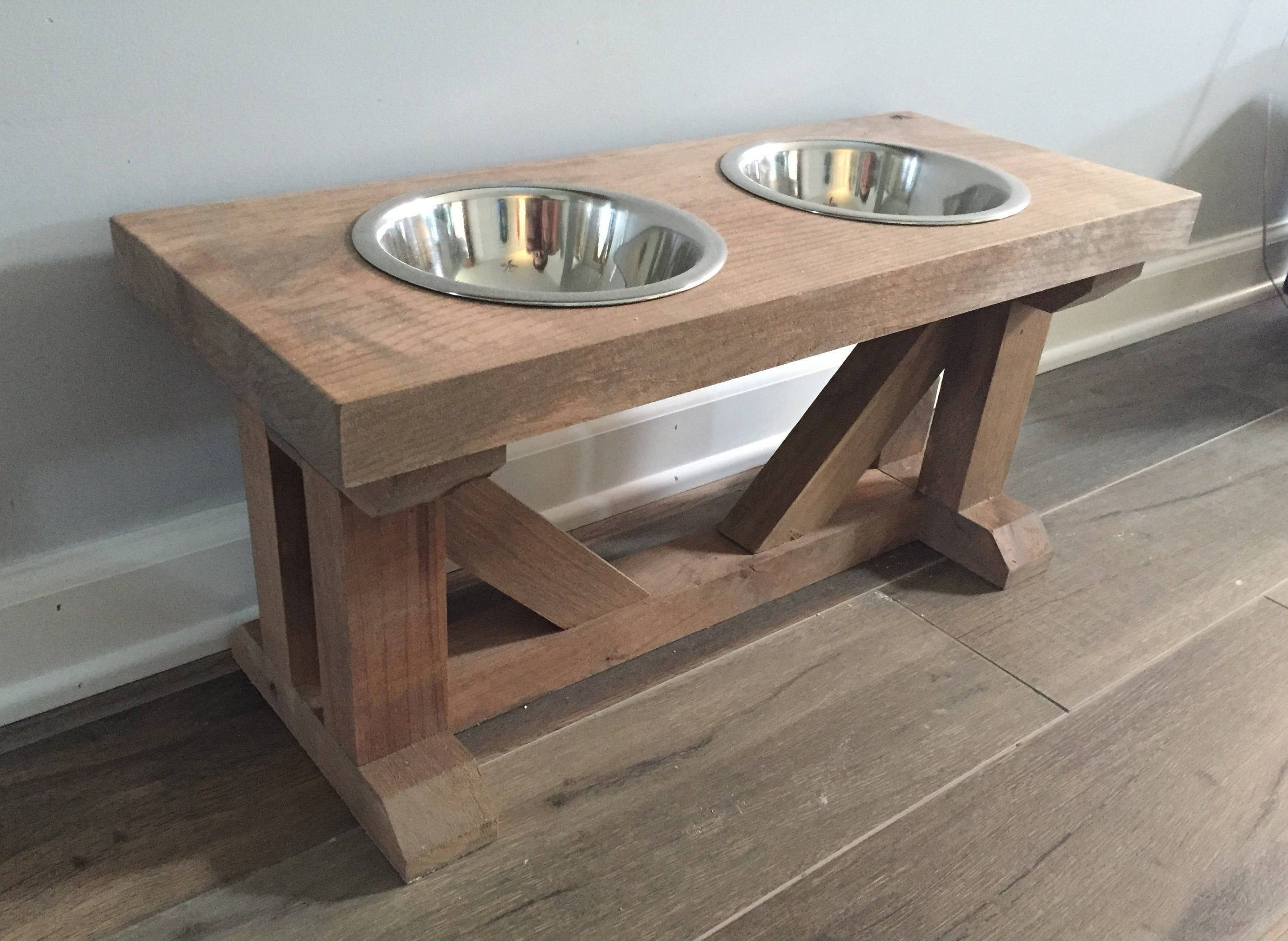 Dog bowl feeder stand elevated raised stand