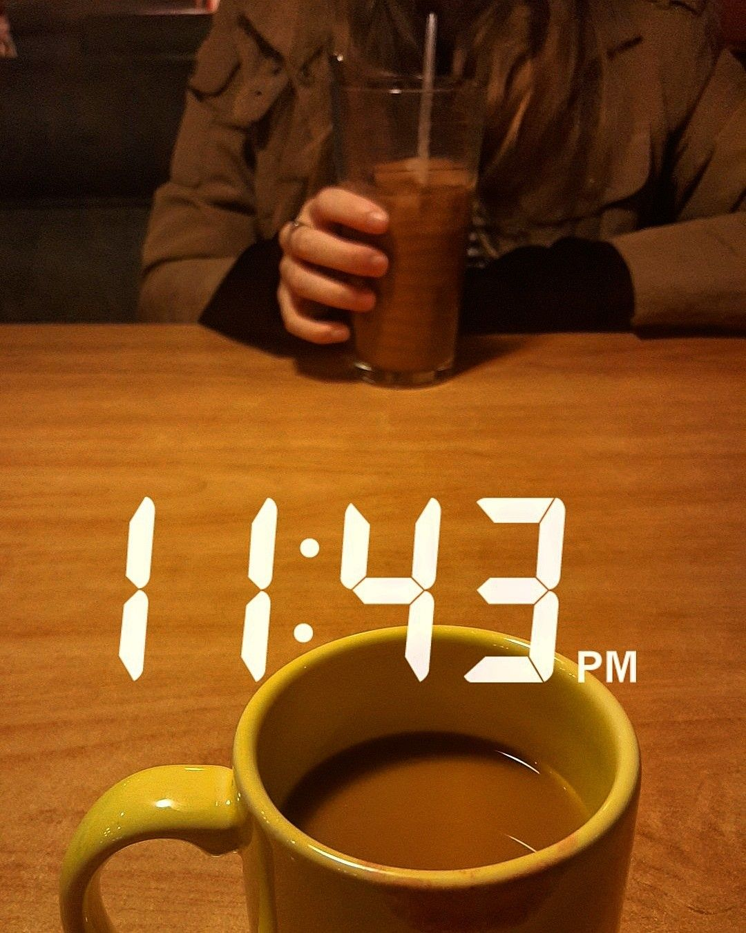 Late Night Coffee Runs After Scary Movies Before Walking Home Night Aesthetic Night Coffee Yellow Aesthetic