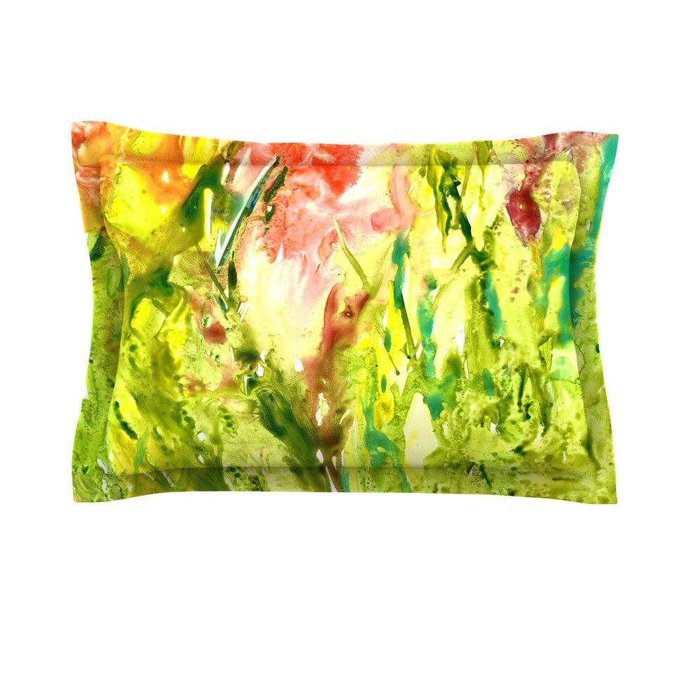 "Rosie Brown ""Green Thumb"" Paint Lime Pillow Sham"