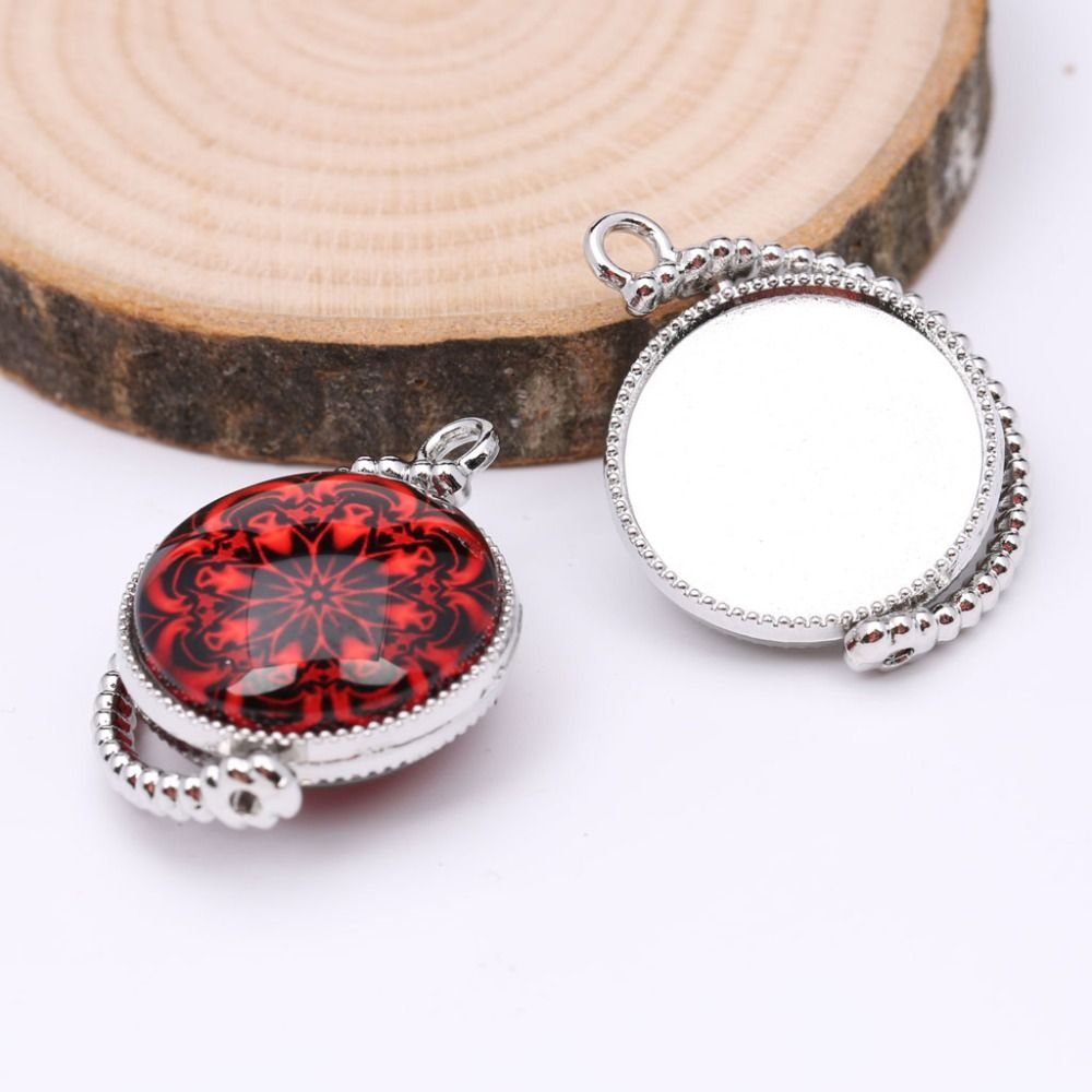 Reidgaller 10pcs double side cabochon base 20mm round pendant reidgaller 10pcs double side cabochon base 20mm round pendant settings diy jewelry bezel blanks for necklace aloadofball Gallery