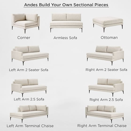Build Your Own Andes Sectional Pieces Extra Deep Build Your