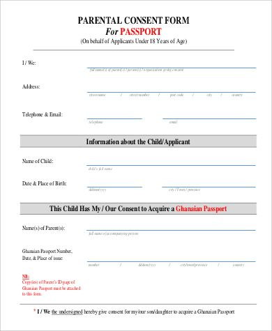 passport consent form sample examples pdf authorization letter and - passport consent forms
