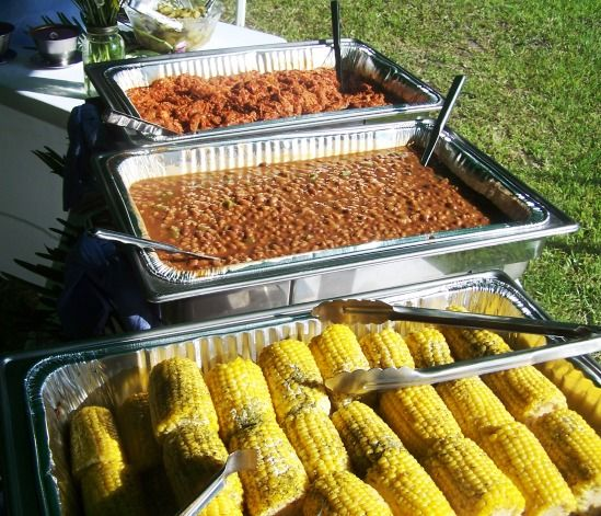 Don T Blow Your Budget On The Reception St Simons Island Wedding Planner Bbq Wedding Reception Wedding Reception Food Reception Food