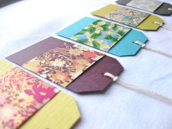 Japanese Chiyogami Yuzen Set of Gift Tags by pabrika on Etsy