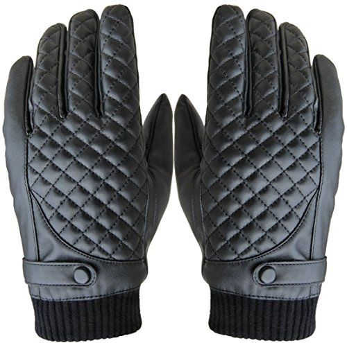 1Pair Touch Screen Winter Gloves Inside Fur Warm Wrist Driving Cycling Glove New