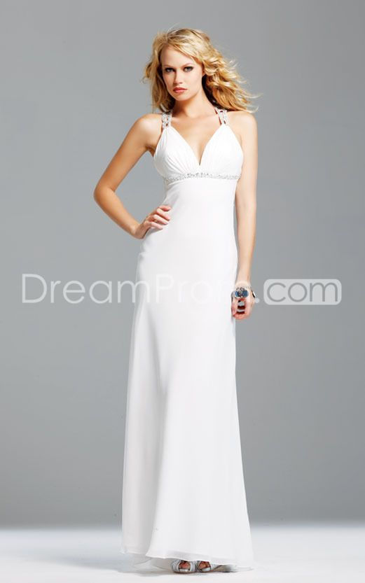 Charming V-Neck Sleeveless Floor-Length A-Line Evening/Prom Dresses