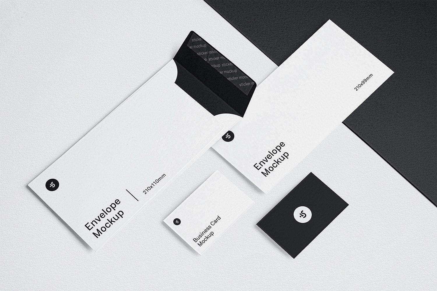 Envelope And Business Card Mockups To Showcase Your Branding Design In A Photorealistic Loo Business Card Mock Up Business Cards Mockup Psd Free Business Cards