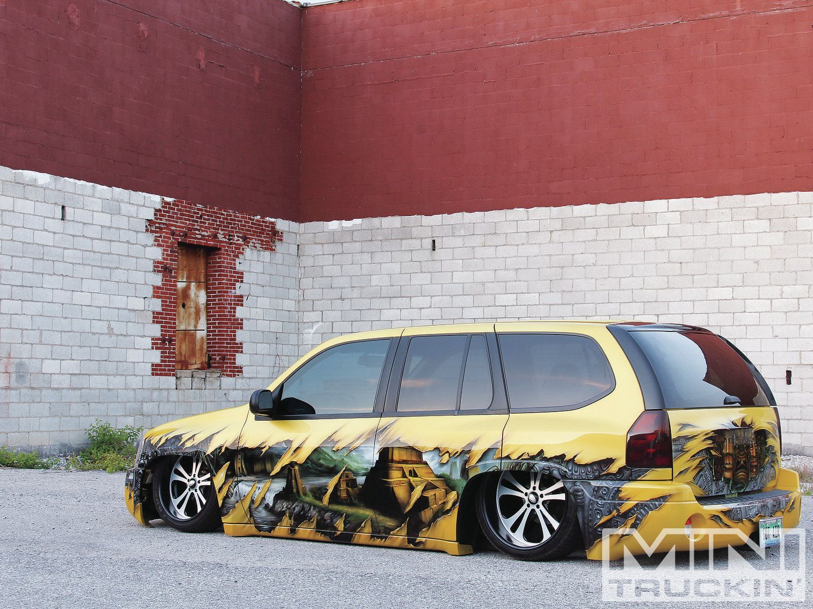 2002 gmc envoy written in stone mini truckin magazine