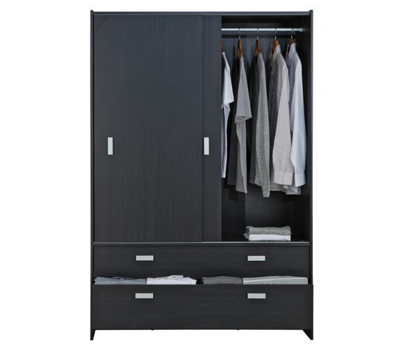 Buy Home New Capella 2 Door 2 Drawer Sliding Wardrobe White At Argos Co Uk Visit Argos Co Uk To Shop Online For Wardrobe Sliding Wardrobe Argos Home Drawers