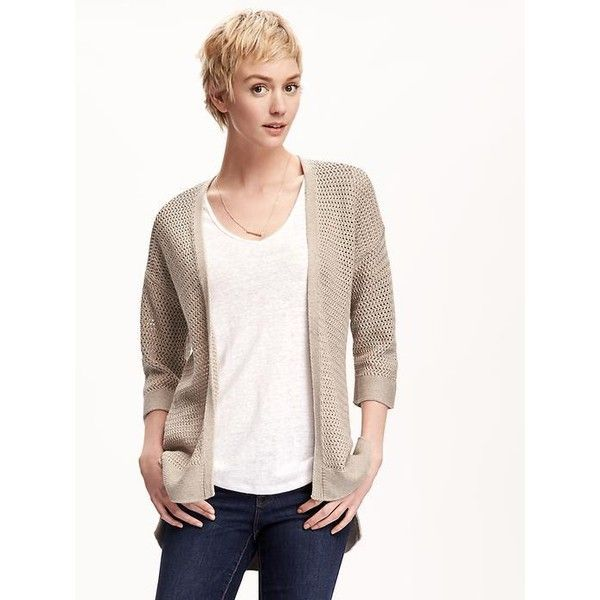 Old Navy Womens Crochet Open Front Cardi ($28) ❤ liked on ...