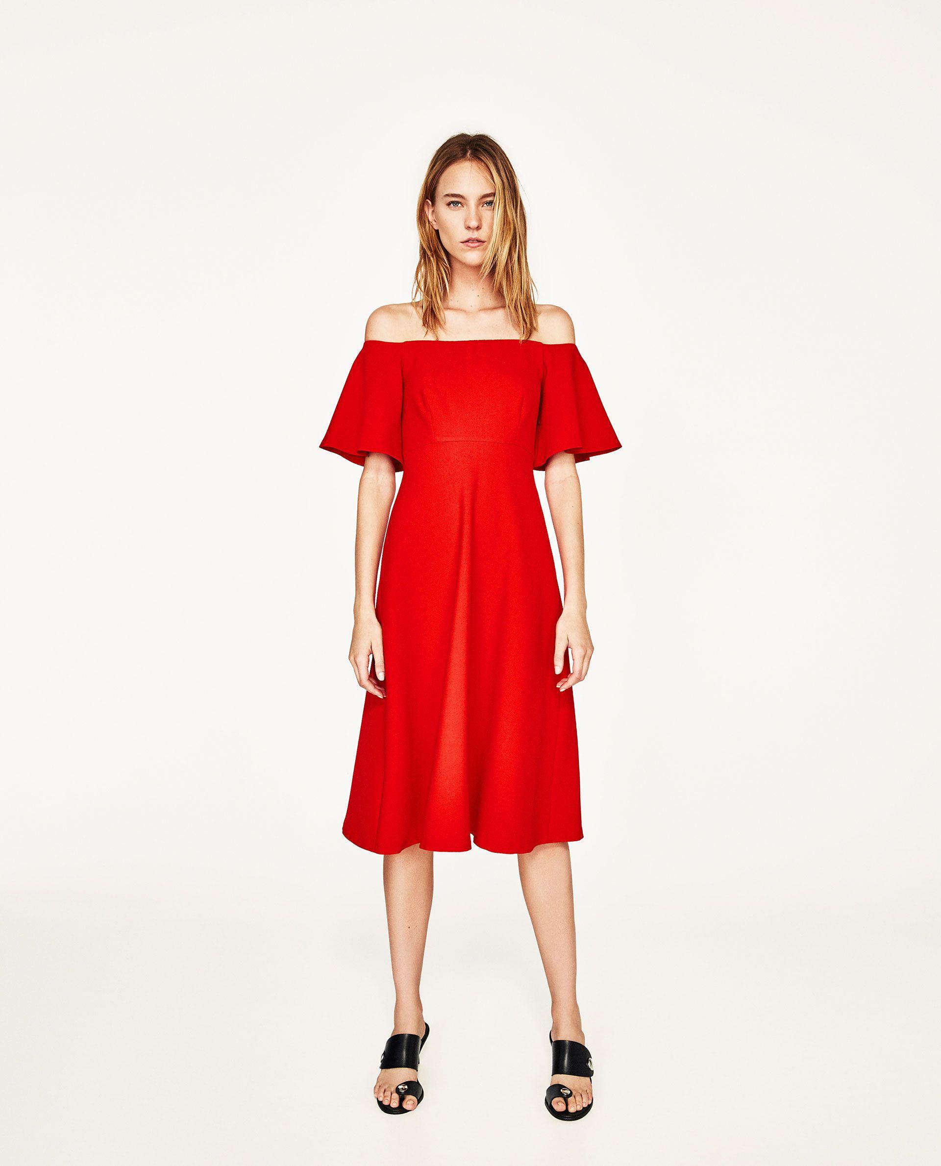 ZARA - WOMAN - OFF-THE-SHOULDER DRESS  Event kleider