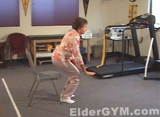 Hip Exercises Sit To Stand Is The Most Simple And Effective Exercise For Older Adults And The Elderly Hip Workout Senior Fitness Flexibility Workout