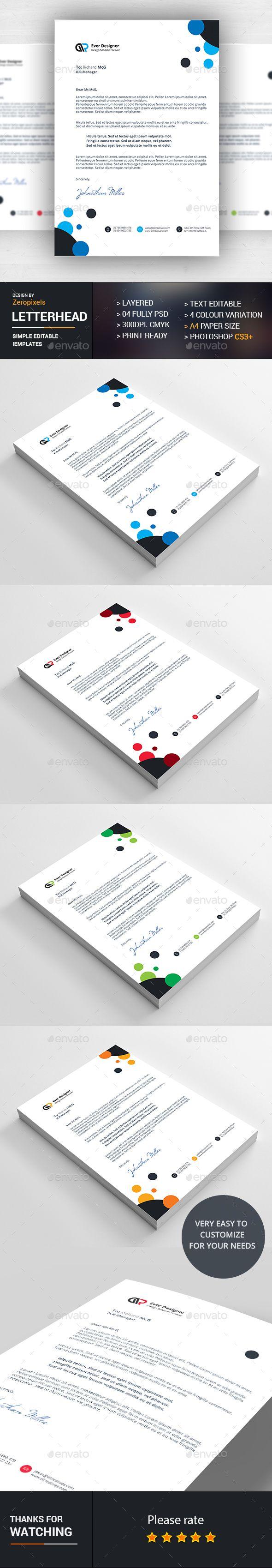 Letterhead Design Template PSD Letterhead Design