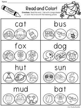 CVC Words Worksheets (Kindergarten & First Grade