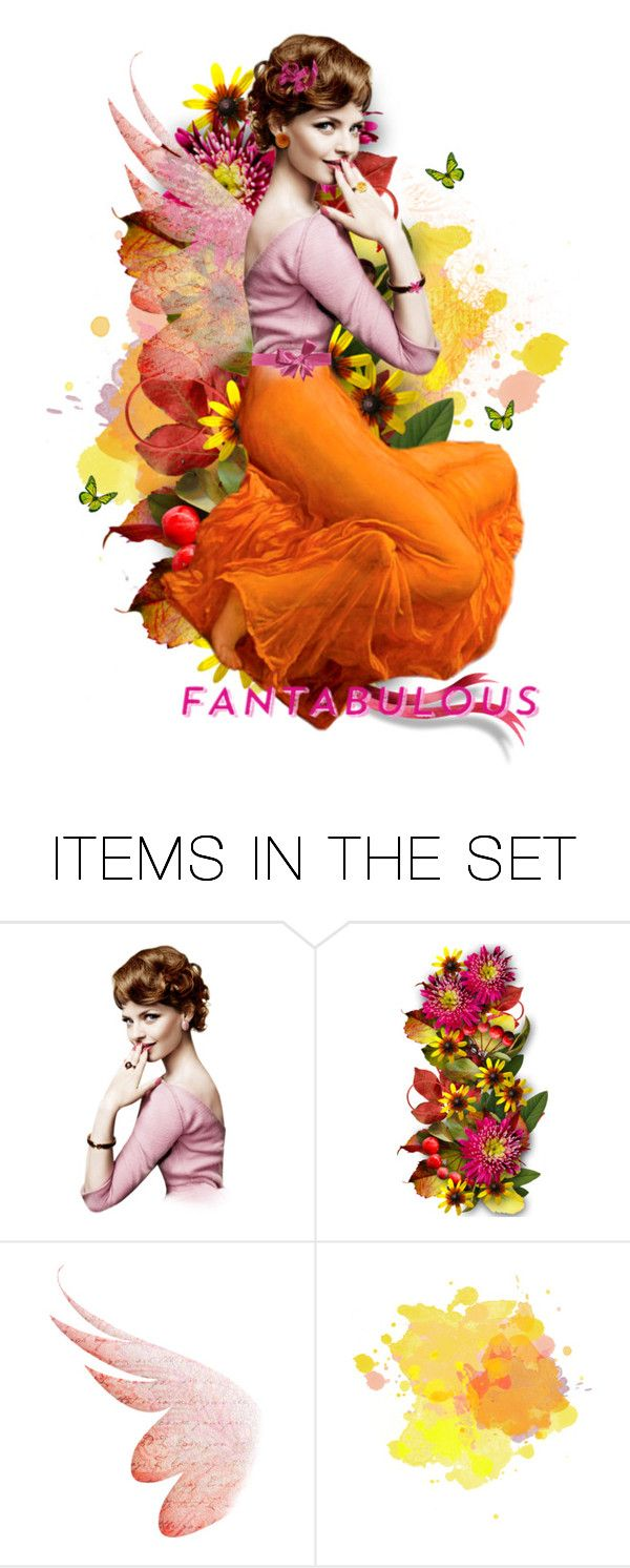"""Fantabulous Pink Fairy"" by kbarkstyle ❤ liked on Polyvore featuring art"