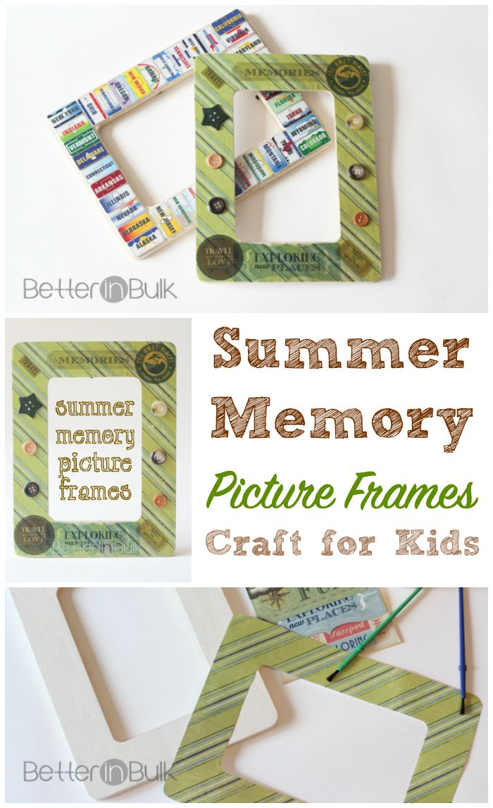 Summer memory picture frames craft for kids recipe picture summer memory picture frame craft for kids or adults everyone can decorate jeuxipadfo Gallery
